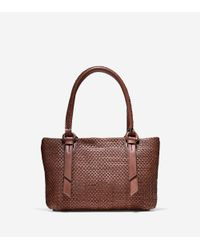 Cole Haan | Brown Bethany Weave Small Tote | Lyst