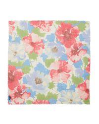 Ralph Lauren | Blue Lauren Marta Floral Square Scarf | Lyst