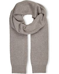 JOSEPH | Gray Cashmere Scarf, Women's, 154 Oatmeal Chine | Lyst