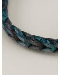 Tateossian - Blue Braided Bracelet for Men - Lyst