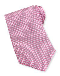 Ferragamo - Pink Butterfly-Print Silk Tie for Men - Lyst