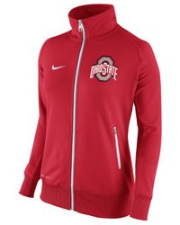 Nike - Red Women'S Ohio State Buckeyes Mvp Track Jacket - Lyst