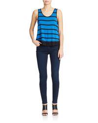 Kensie | Blue Striped Tank Top | Lyst