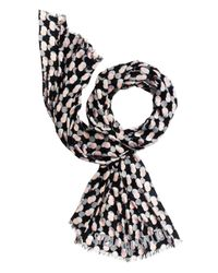 kate spade new york | Black Steal The Spotlight Oblong Scarf | Lyst