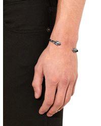 Alexander McQueen | Metallic Silver-tone Palladio Skull Bracelet for Men | Lyst