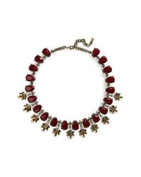 BaubleBar | Purple Crystal Collar Necklace - Maroon /antique Gold | Lyst