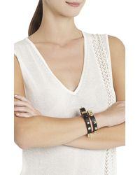 BCBGMAXAZRIA - Black Studded Wrap Bracelet - Lyst
