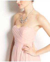 Ann Taylor - Pink Silk Georgette Strapless Dress - Lyst
