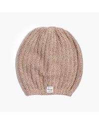 Madewell - Natural Softest Ribbed Beanie - Lyst
