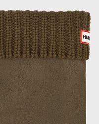 HUNTER - Green Half Cardigan Stitch Boot Socks for Men - Lyst