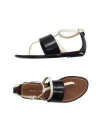 Sergio Rossi | Black Thong Sandal | Lyst