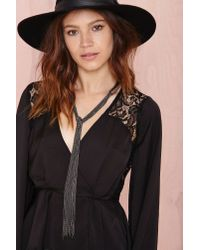 Nasty Gal - Black Take A Strand Collar Necklace - Lyst