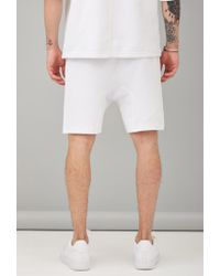 Forever 21 - White Defend Paris Drop Crotch Sweatshorts for Men - Lyst