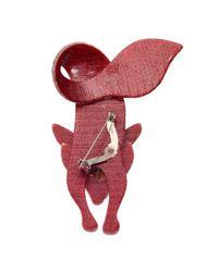 Rarities | Pink Lea Stein Fox Pin | Lyst