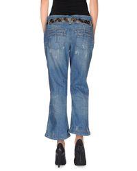 Roberto Cavalli - Blue Denim Trousers - Lyst