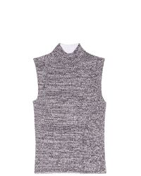 Theory - Gray Turtle-neck Top - Lyst
