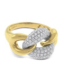 KC Designs | Metallic Diamond Pave Link Ring Size 75 | Lyst