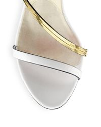 Brian Atwood | White Cecile Leather Chainstrap Sandals | Lyst