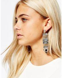 Oasis - Multicolor Luxe Stone Detail Statement Drop Earrings - Lyst