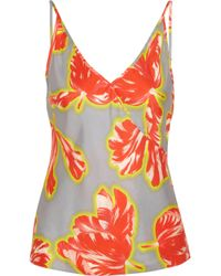 Jonathan Saunders | Gray Ginger Tulip-print Silk-twill Camisole | Lyst