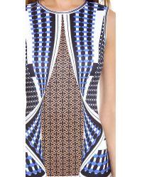Clover Canyon - Blue Twist Scarf Neoprene Dress - Lyst