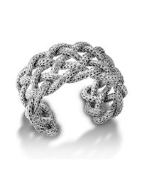 John Hardy | Metallic Wide Braided Cuff | Lyst