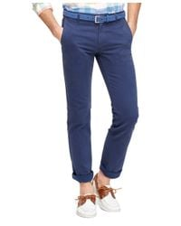 Brooks Brothers | Blue Slim Fit Bedford Cord Chinos for Men | Lyst