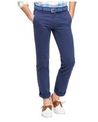 Brooks Brothers - Blue Slim Fit Bedford Cord Chinos for Men - Lyst
