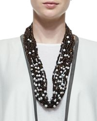 Eskandar | Brown Multi-strand Coconut Bead Necklace | Lyst