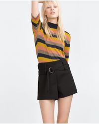 Zara | Yellow Striped T-shirt | Lyst
