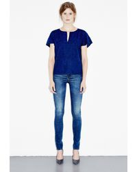 M.i.h Jeans - Blue Broderie Top - Lyst