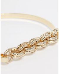 ASOS - Metallic Chain Link Fine Bangle - Lyst