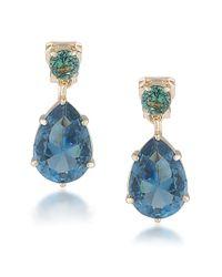 Carolee   Rio Radiance Blue Teardrop Earrings   Lyst