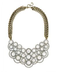 BaubleBar | Metallic Scalloped Mother Of Pearl Bib | Lyst