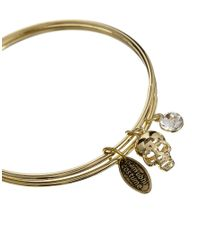 Sam Ubhi - Metallic Gold Skull Diamante Bracelet - Lyst