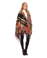 Vivienne Westwood | Red Tartan Cape Poncho | Lyst