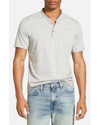 7 Diamonds - Gray 'Carnegie' Jersey Henley T-Shirt for Men - Lyst