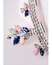 Missguided - Multicolor Gem Layer Beaded Necklace Multi - Lyst