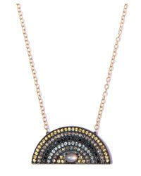 Andrea Fohrman - Gray Large Mixed Diamond And Grey Moonstone Rainbow Necklace - Lyst
