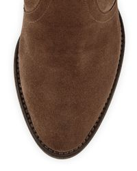 Aquatalia | Brown Farah Suede Ankle Boot | Lyst