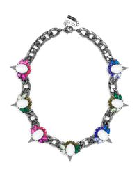 BaubleBar - Multicolor Crystal Spike Curb Collar - Lyst