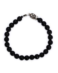 Roman Paul | Black Beaded Bracelet for Men | Lyst