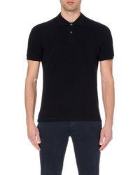 Brunello Cucinelli | Blue Slim-fit Cotton-piqué Polo Shirt for Men | Lyst