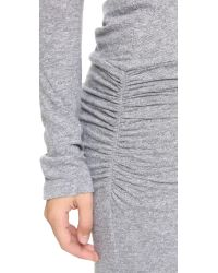 Monrow - Gray Sporty Basics Baseball Dress - Lyst