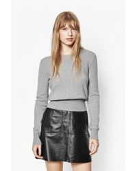 French Connection | Gray Claudie Cashmere Jumper | Lyst
