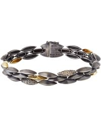 Alexis Bittar Fine - Metallic Silver And Gold Triple Row Marquis Bracelet - Lyst