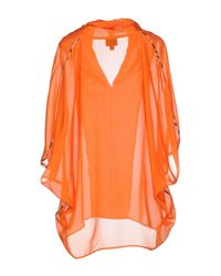 Just Cavalli - Orange Blouse - Lyst