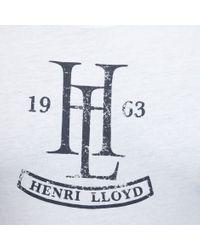 Henri Lloyd   White Nonington Regular Tee for Men   Lyst