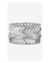 Express Metallic Chevron Metal Stretch Bracelet