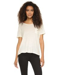 LNA | Natural Torn Pocket Tee - Army | Lyst